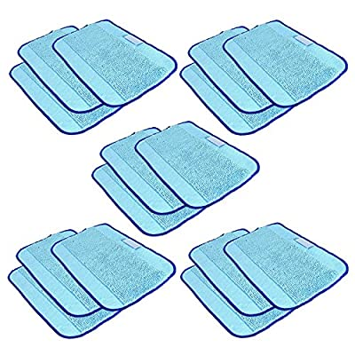 VACFIT Mop Cleaning Pads for Shark S1000A Replacement Reusable Duster Washable Steam Pocket Mops Cloth Pads Vacuum Cleaner Accessories 4 Packs