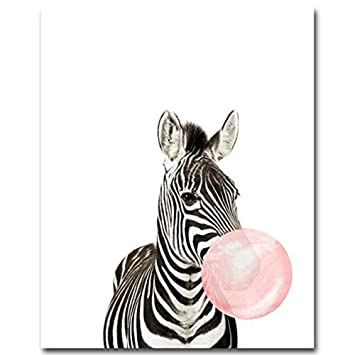 Nordic Ideas Animaux Girafe Zebre Cerf Koala Affiche Decoration