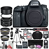 Canon EOS 6D Mark II Digital SLR Camera Body (Wi-Fi Enabled) Premium Accessory Bundle + DigitalAndMore Deluxe Cleaning Solution