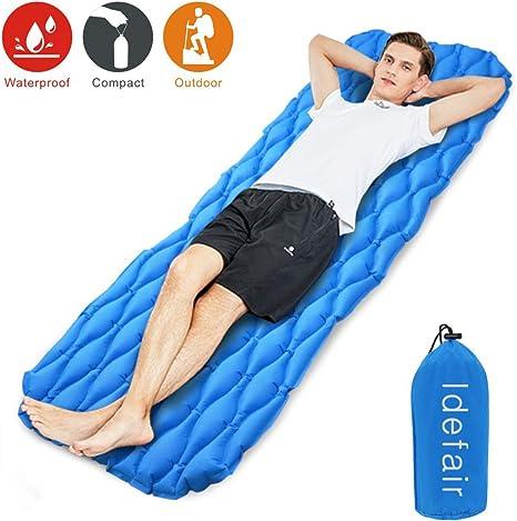 camping Tumbona inflable para playa senderismo parque patio picnic viajes Idefair hinchable