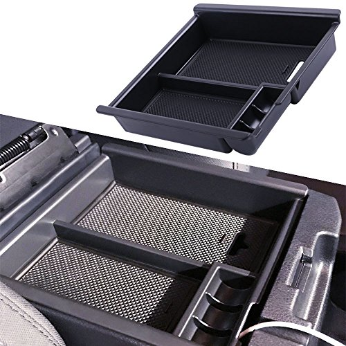 JDMCAR for Toyota Tacoma 2016 2017 2018, Center Console Organizer Insert ABS Black Materials Tray, Armrest Box Secondary Storage