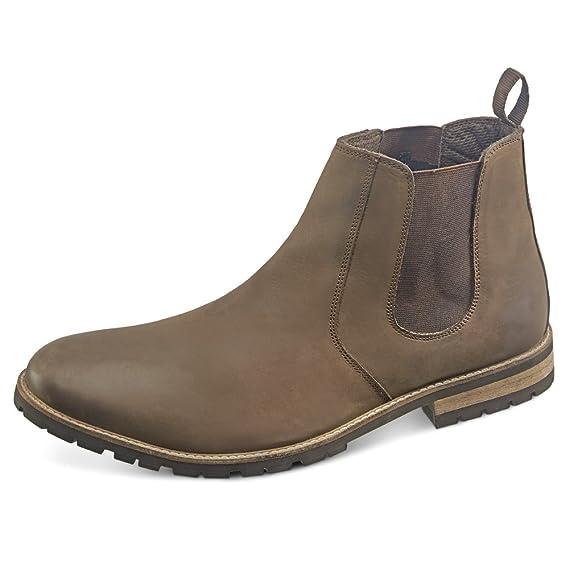 4631e697366 Samuel Windsor Men's Handmade Italian Leather Brown Belgravia Casual  Chelsea Boot