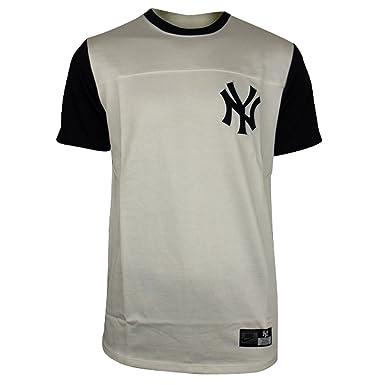 Mens Nike New York NY Yankees White Bronx ML Baseball Tee T-Shirt Top Size 470a9d867b8