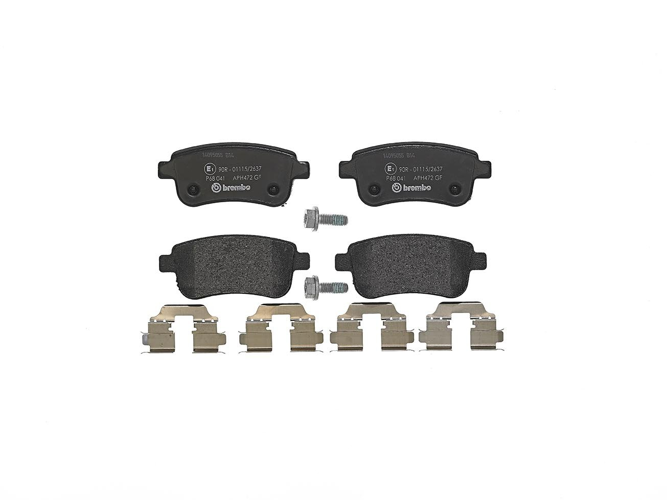 Set of 4 Brembo P68041 Rear Disc Brake Pad
