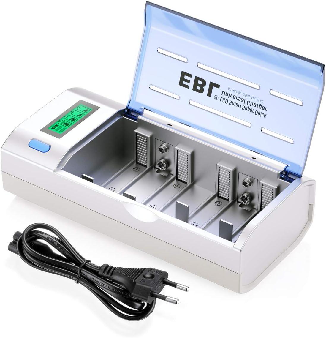 EBL 906 Universal Cargador de Pila para AA AAA C D 9V NI-MH NI-CD ...