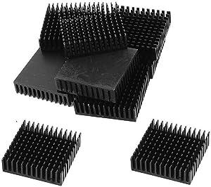 Nxtop 12 Pcs Aluminium 40 x 40 x 11mm Square Heatsink Cooling Cooler Fin Black
