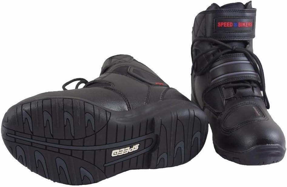 Schwarz Motorradfahren in verschiedenen Gr/ö/ßen erh/ältlich Wasserdichte Motorradstiefel aus Leder kurz Stiefel