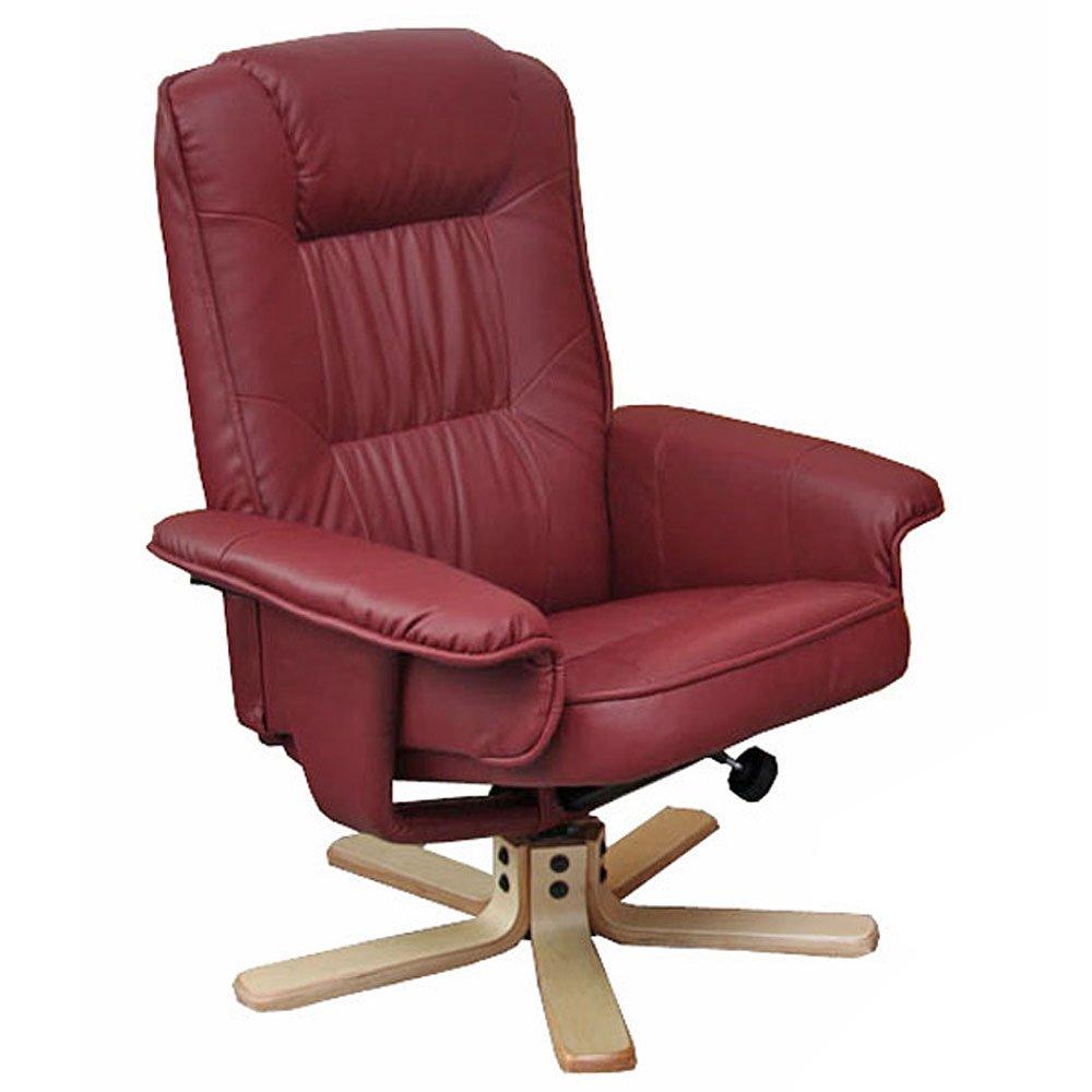 Fauteuil relax -de relaxation M56 - simili-cuir - bordeaux