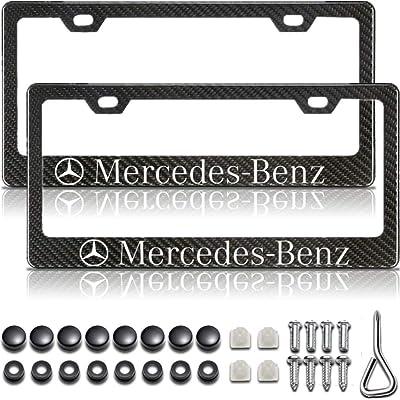 Mercedes Benz License Plate Frame, Mercedes License Plate Frame, Carbon Fiber License Plate Frame, Mercedes Benz Accessories, License Plate Frame Carbon Fiber, Black License Plate Frame: Automotive