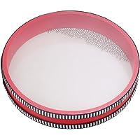 BQLZR 8 Inch Rojo Madera carcasa Ocean Wave tambor con plástico transparente tambor piel mar sonido Percusión Musical…