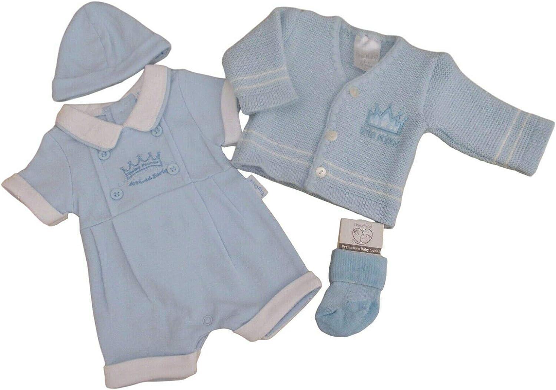 Little Chick BNWT Tiny Premature Preemie Baby Romper Suit hat Cardigan /& Socks