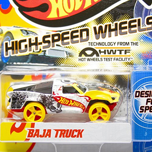 Team Hot Wheels High-Speed Wheels Baja Truck White/Yellow (Hot Wheel Baja Truck compare prices)
