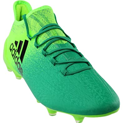 adidas X 16.1 FG Soccer Cleats (Solar Green)  Amazon.co.uk  Shoes   Bags 7889dfcf1a