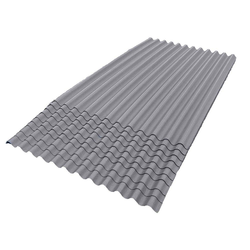 ONDURA 100 Corrugated Asphalt Roofing (10-Pack), Gray by ONDURA