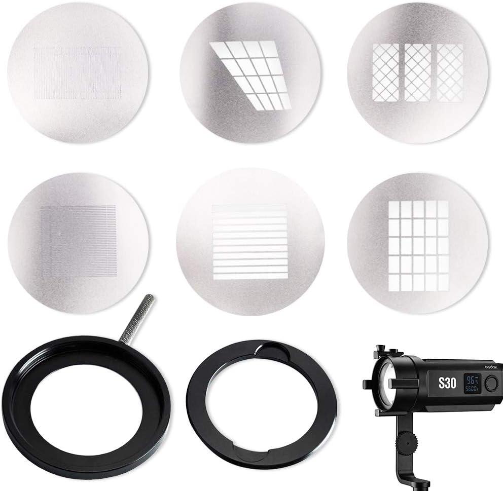 SA09-02 GODOX SA-09-002 Conjuntos GOBO para Efectos creativos de luz LED S30