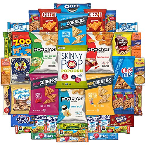 Ultimate Snack Assortment Care Package - Chips, Crackers, Cookies, Nuts, Bars - School, Work, Military or Home (40 Pack)]()