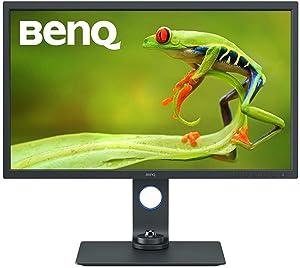 "BenQ SW321C 32"" 4K IPS Photo & Video Editing Monitor w/AQCOLOR tech 99% AdobeRGB, 100% sRGB/Rec.709, 95% DCI-P3/Display P3, Hardware Calibration, Paper Color Sync, Uniformity tech, HDR, USB-C w/PD"