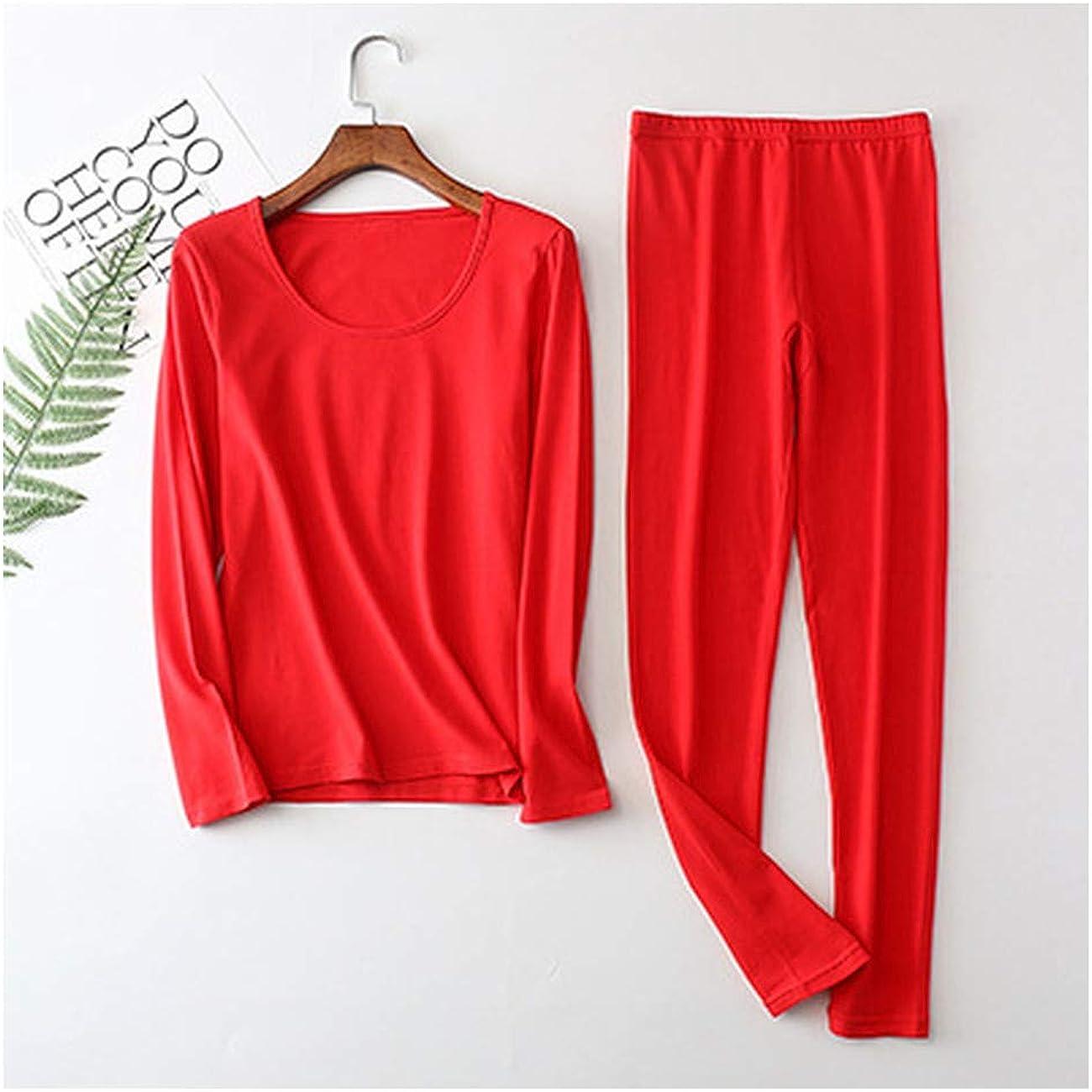 Fancy Dawn Women Plus Large Big Size Cotton Thermal Underwear Set Long Top and Bottoms