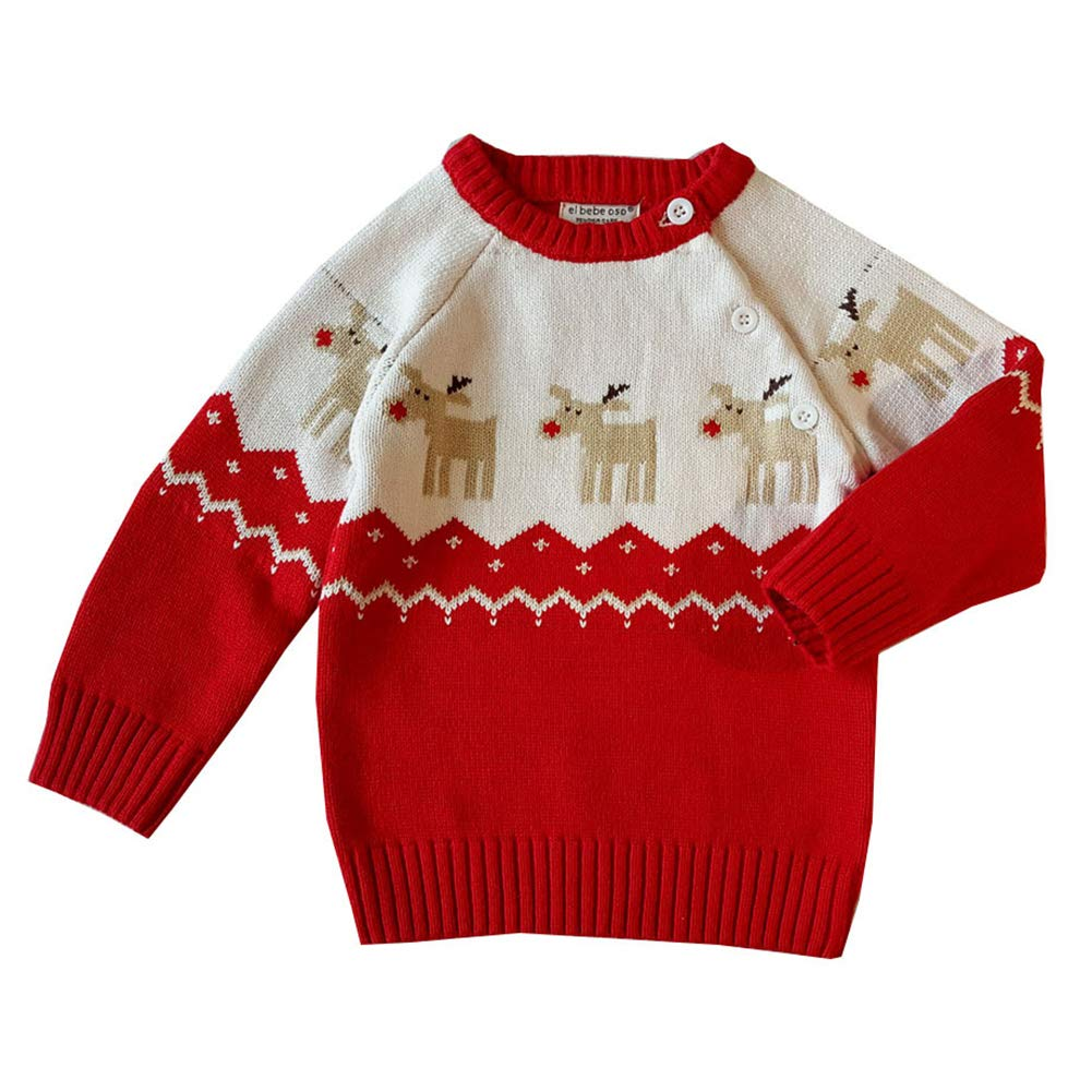 Mornyray Toddler Baby Boy Girl Christmas Sweater Thick Knitwear Pullover Outfit