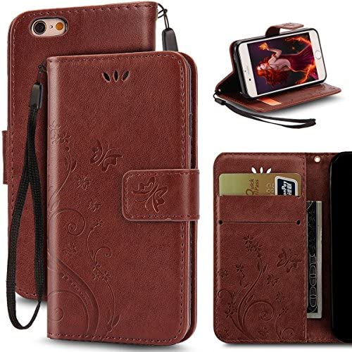 Samsung Galaxy S7 Butterfly Card Slot Case-Aurora Khaki PU Leather Soft Smooth Floral Wallet Kickstand Case for Samsung Galaxy S7 Sales