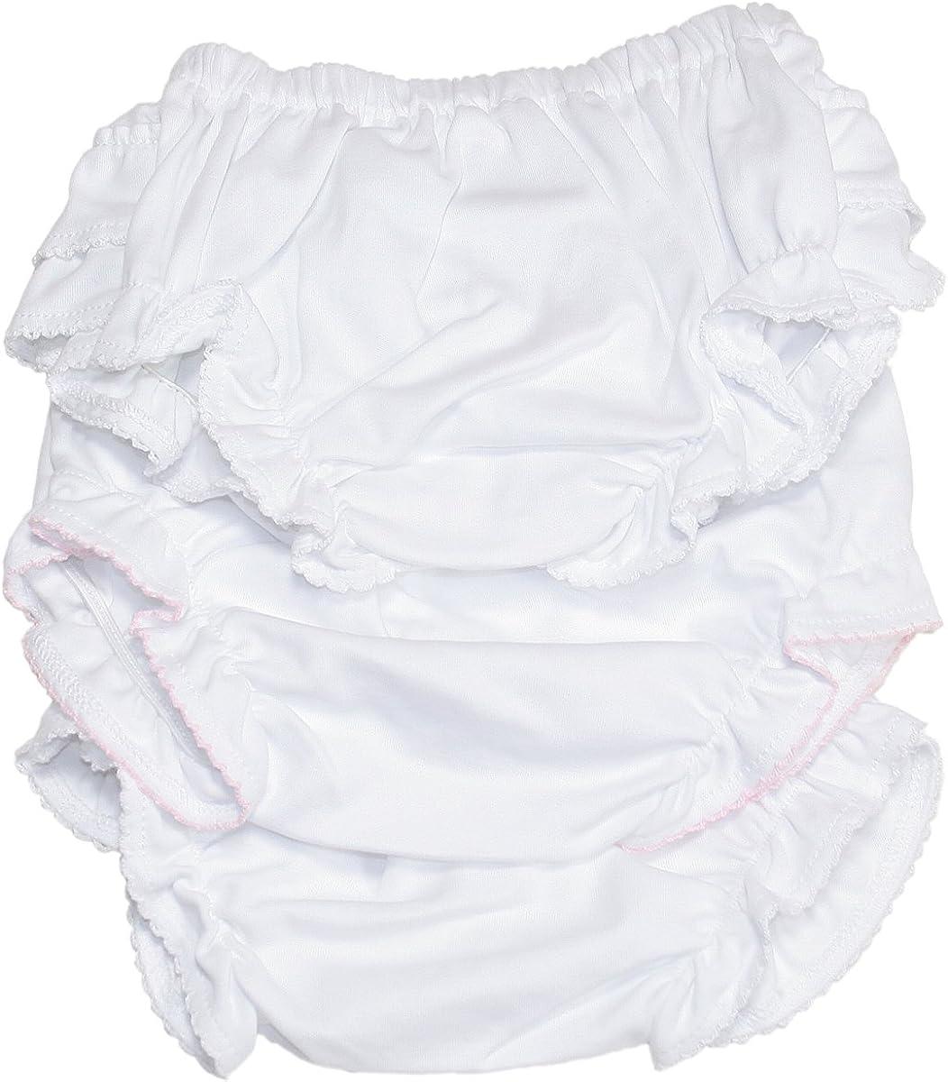 White Kissy Kissy Basic Diaper Cover 3 Set