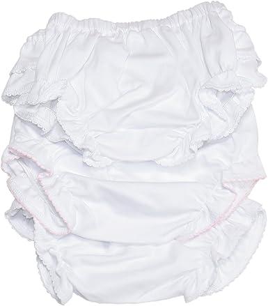 White Basic Diaper Cover with Ruffle Kissy Kissy