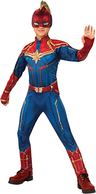 Rubies Captain Marvel Childrens Deluxe Hero Suit, Small 700597