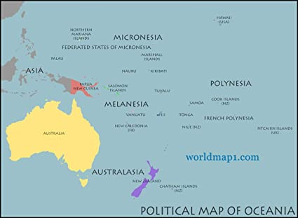 Amazon.com: Gifts Delight Laminated 32x24 Poster: Political Map ...