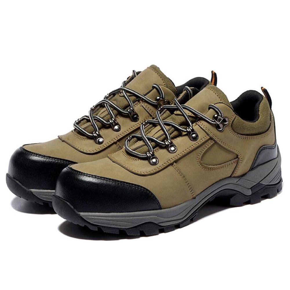 CAI CAI CAI Herren Wanderschuhe Rutschfeste Bergschuhe Sicherheitsschuhe Mens Baotou Anti-Smashing Pannensichere Arbeitsschuhe antistatische isolierende Schuhe (Farbe   Bronze Größe   37) f4dd44