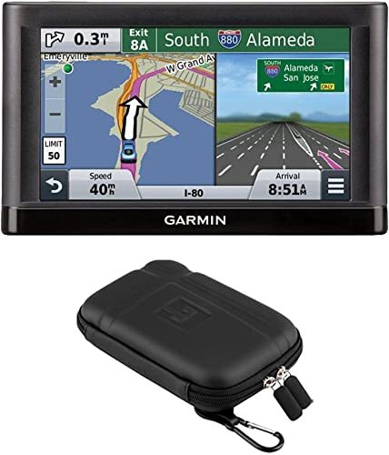 Garmin nuvi 55LM GPS Navigation System with Lifetime Maps 5 Display Case Bundle – Includes 5 Essential Series GPS Navigation System and Nuvi 5 inch Protect, Stow and Carry Soft Case