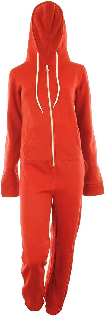 Da Uomo Tinta Unita 1 Tutina con cappuccio con risvolto con zip all-in-One tuta Nightwear