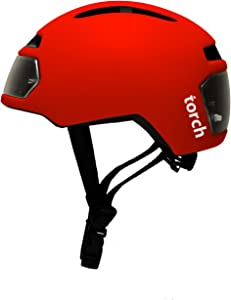 Torch Apparel T2 Bike Helmet with Front and Rear LED Lights