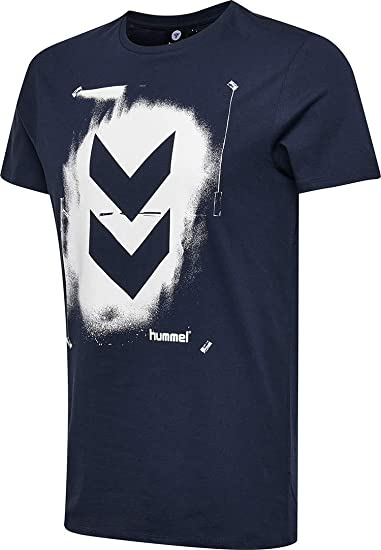 hummel HMLLOGAN Camisetas, Hombre, Schwarz Iris, Extra-Large ...