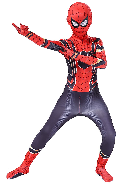 ugoccam Superhero Bodysuit Kids Zentai Suit Halloween Costumes Red//Navy