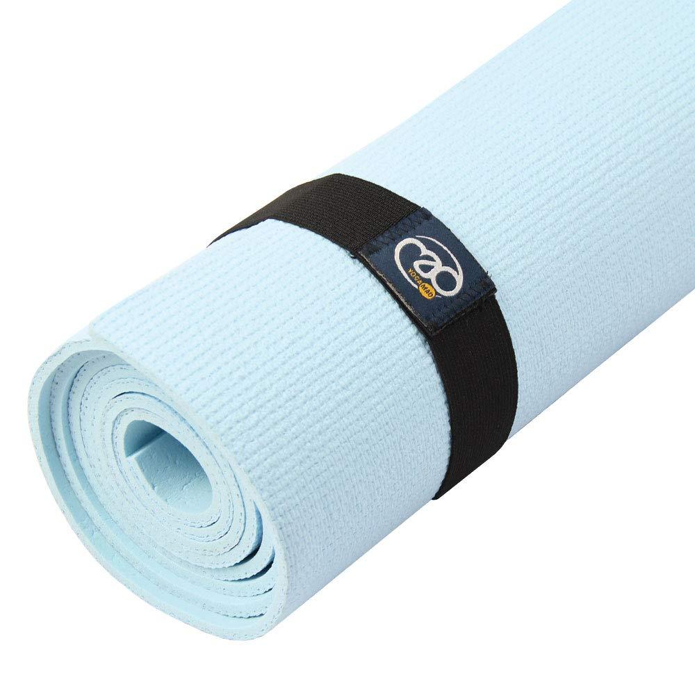 Yoga-mad - Banda Elástica para Esterilla de Yoga, Unisex Adulto, Negro, 3 cm