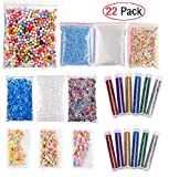 Arts & Crafts : EDsports 22 Pack Slime Making Kits Supplies,Fishbowl Beads,Foam Balls,Glitter Shake Jars,Fruit Flower Candy Slices Accessories,DIY Art Craft for Homemade Slime, Wedding and Party Decoration