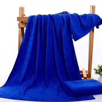 JUNGEN Toalla de baño toalla de playa microfibra Antibacterial y rápido secado 35x75cm (Azul): Amazon.es: Hogar