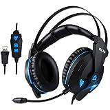 Amazon.com: Klim Impact - USB Gaming Headset - 7.1 Surround Sound ...