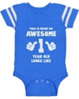 This Is What an Awesome One Year Old Looks Like Funny Baby Jersey Bodysuit