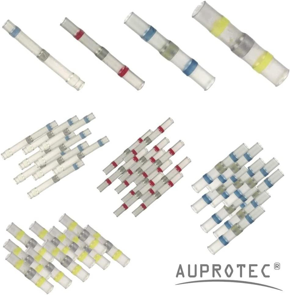 10 bianco // 20 rosso // 30 blu // 40 giallo 100 Connettori termoretraibili saldanti set assortimento selezione: