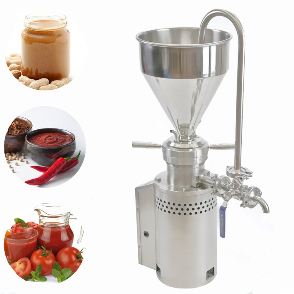 304 Stainless Steel Peanut Butter Machine Ketchup Machine Colloid Mill Sesame Butter Maker Grinding Machine 10-20kg/h (220)