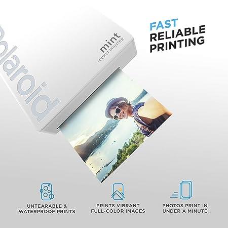 Polaroid Mint Impresora de Bolsillo Inalámbrica (Blanco) Kit ...