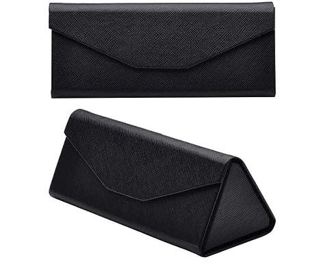 Lucklystar® Funda para Gafas de Sol Estuche de Gafas Plegable de Forma de Creative Triangular Caja de Almacenamiento(Negro)