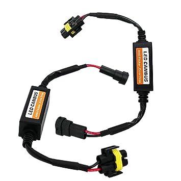 Fezz LED Coche Bombilla Faro Decodificador H8 H9 H11 Canbus Resistencia Adaptador Cableado Advertencia Cancelador Errores