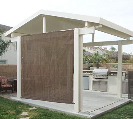 Alion casa Rod bolsillo parasol Panel w/ojales en 3 partes para Patio toldo, toldo, cubierta de ventana, Instant Pared lateral, pérgola o RV