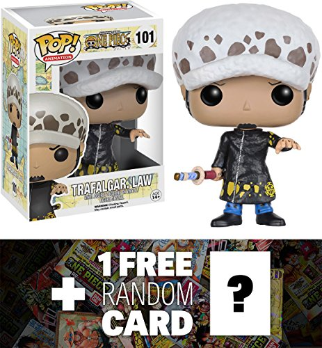 Trafalgar Law: Funko POP! x One Piece Vinyl Figure + 1 FREE Official Japanese One Piece Trading Card Bundle [63597]