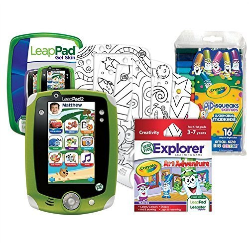 LeapFrog Leap Pad 2 Crayola Creativity Pack Bundle (Inclu...
