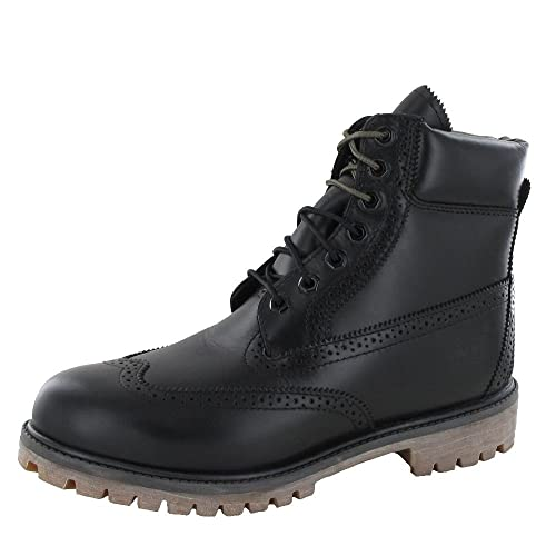 Timberland - Botas de Piel para hombre Negro negro, color Negro, talla 47.5: Amazon.es: Zapatos y complementos