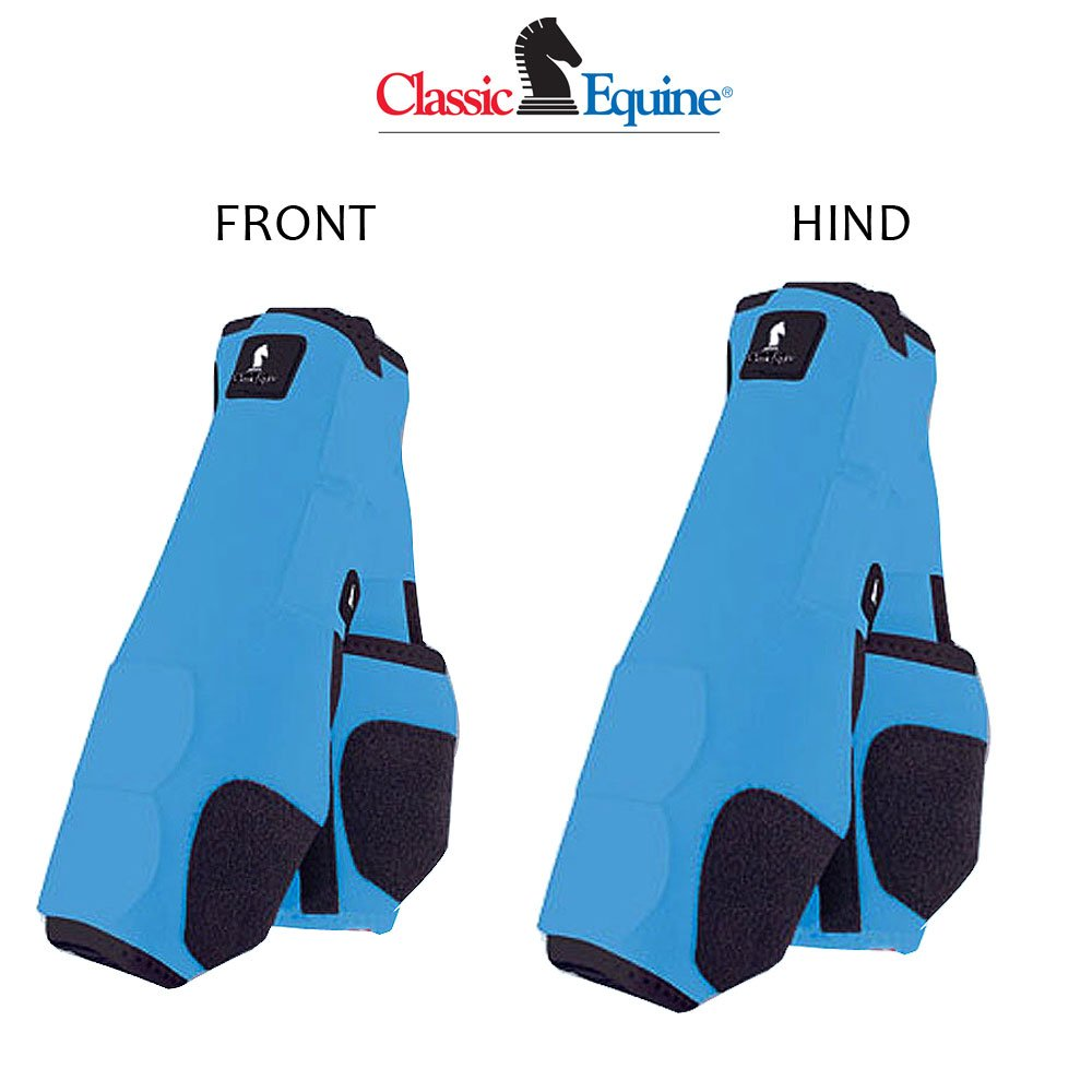 M- 4 PACK TURQUOISE CLASSIC EQUINE LEGACY HORSE FRONT REAR HIND LEG SPORT BOOT by Classic Equine (Image #1)