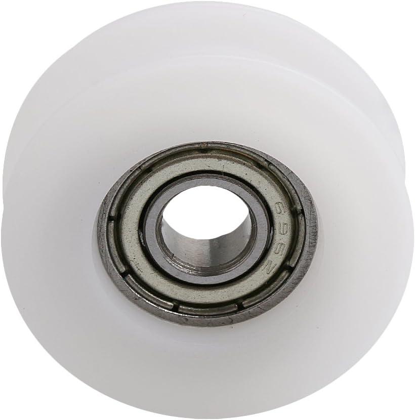 Mxfans 2,8 x 0,9 cm 4 cuscinetti a sfera scanalati a H per mobili colore: Bianco